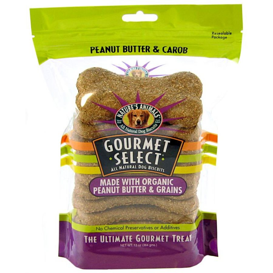 Natures Animals Gourmet Select All Natural Dog Biscuits – Peanut Butter & Carob