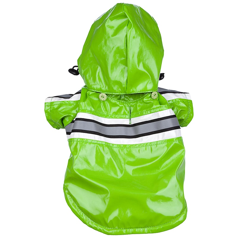 Pet Life Reflecta-Glow Adjustable & Reflective Raincoat – Green