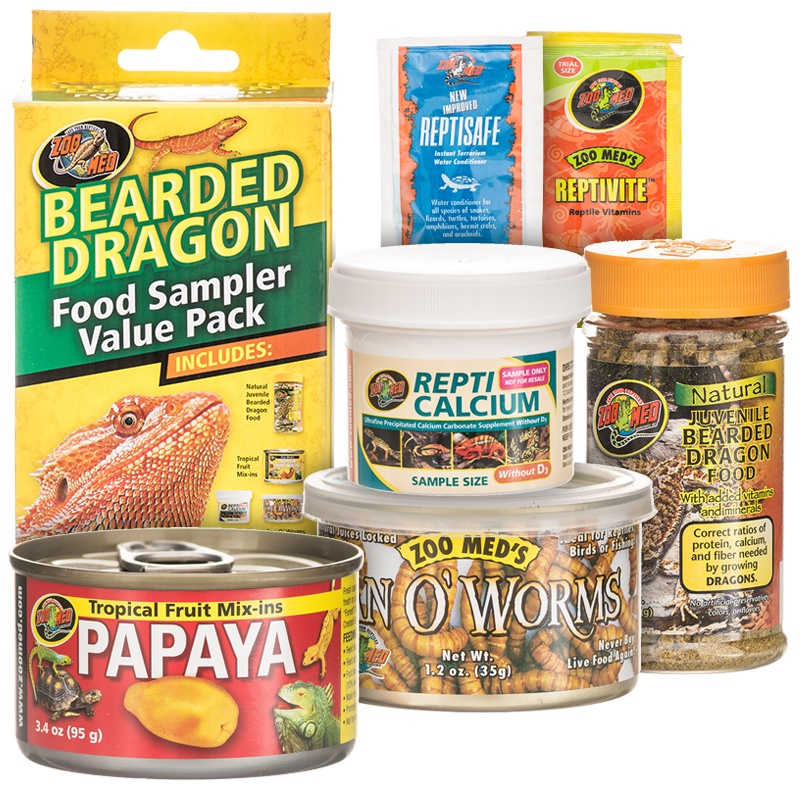 Zoo Med Bearded Dragon Food Sample Value Pack
