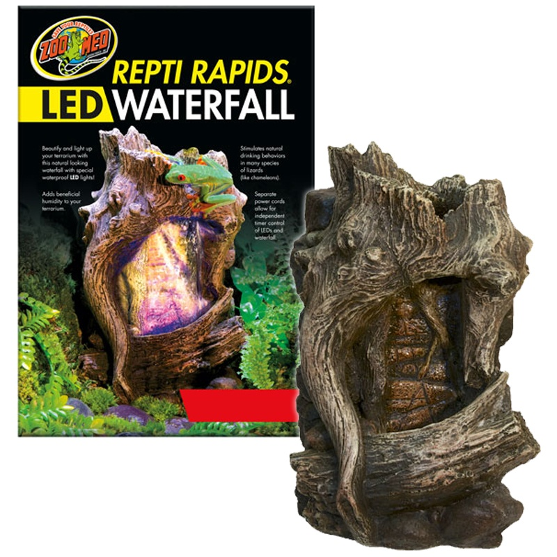 Zoo Med Repti Rapids LED Waterfall – Wood Style