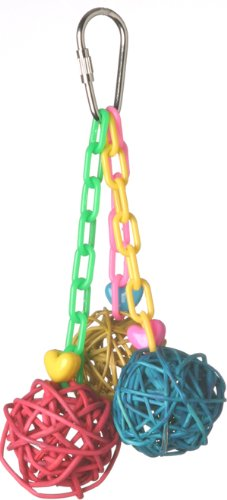 SMALL SUPER BIRD CHRATIONS 5 1/2 BY 2 INCH MINI VINE CHAIN BIRD TOY
