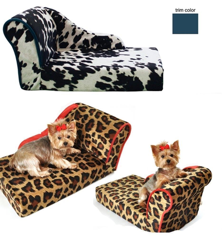 DOG BED CHAISE LOUNGE LUXURY PET LOUNGER BED MADE IN USA PET FLYS