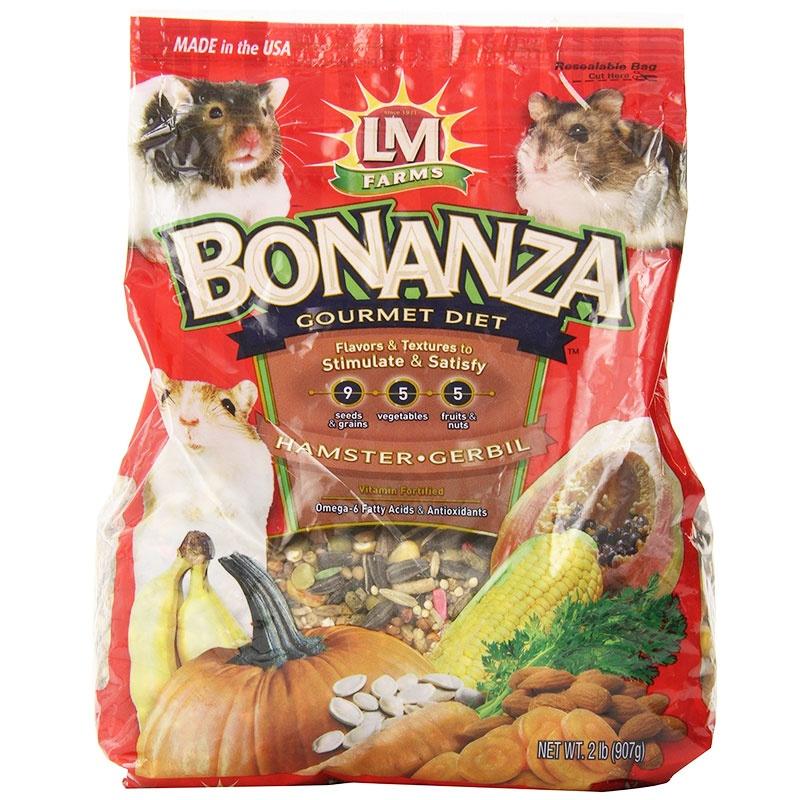 LM Animal Farms Bonanza Gourmet Diet- Hamster & Gerbil Food 2 lbs