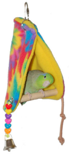 PEEKABOO PERCH TENT SMALL HOUSE TOY PERCH DESTRESSER SUPER BIRD CREATIONS