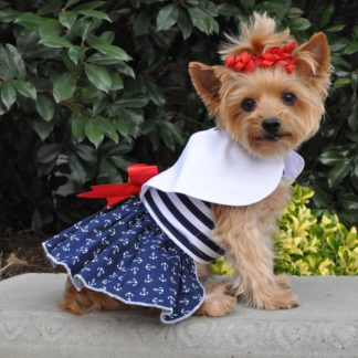 nautical-dog-dress-with-matching-leash